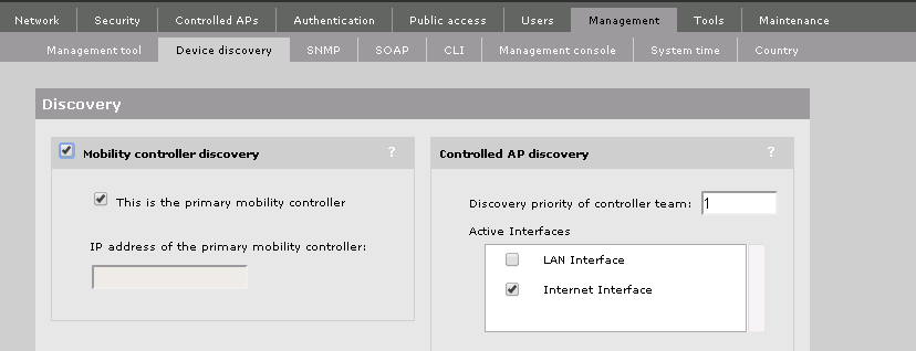 MSM Mobility Controller Discovery