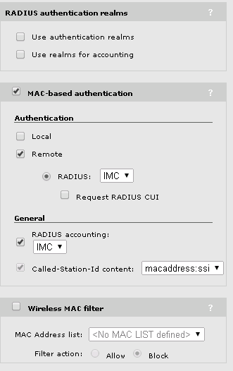 MSM VSC MAC Based Authentication