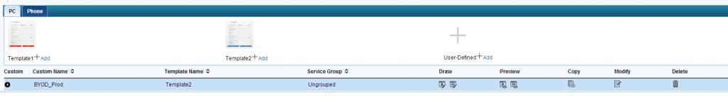 iMC UAM Mobile BYOD Page