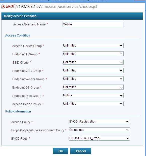 iMC UAM BYOD Access Scenario