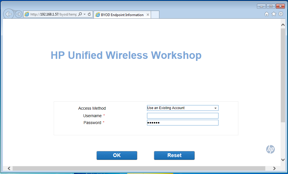 iMC UAM BYOD Portal Page