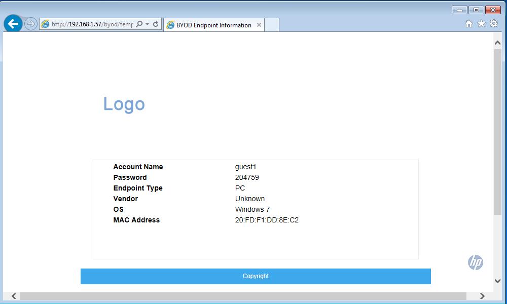iMC UAM BYOD Summary Page