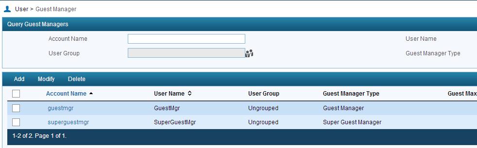 iMC UAM Guest Manager