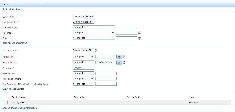 iMC UAM Self-Service Portal Batch Import