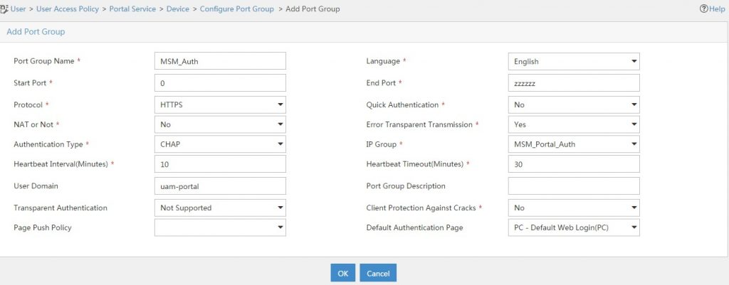UAM-Captive-Portal-add-Port-Group