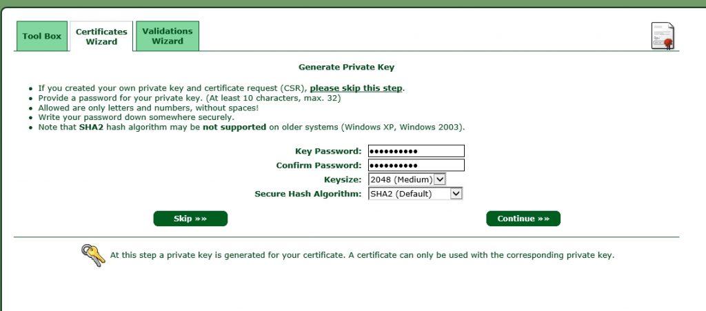 StartSSL-Create-Certificate-Key