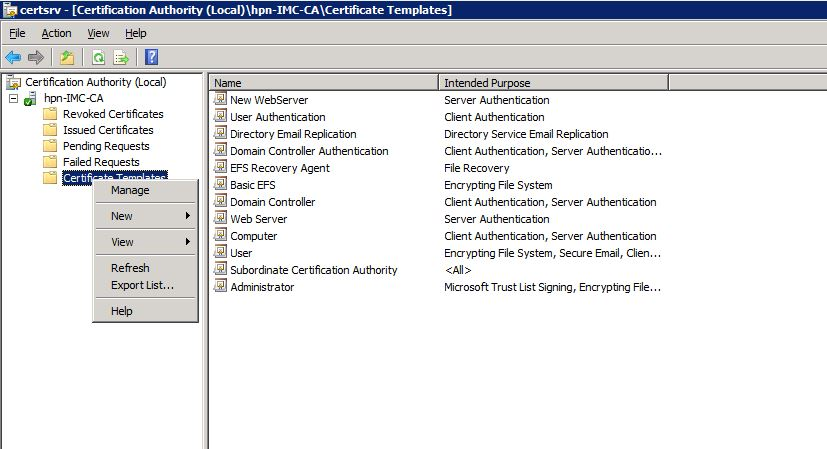 How To: iMC Webserver Certificate