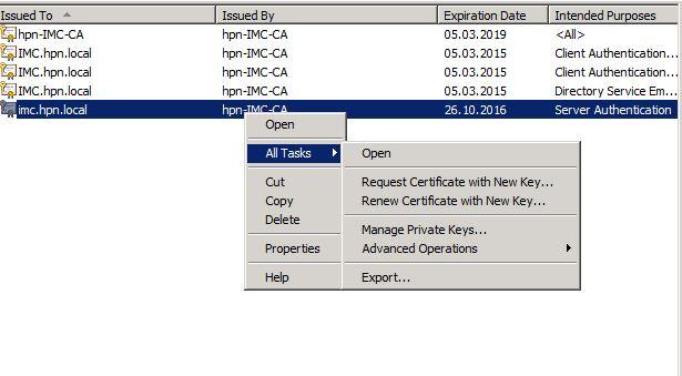 MMC-Export-Certificate