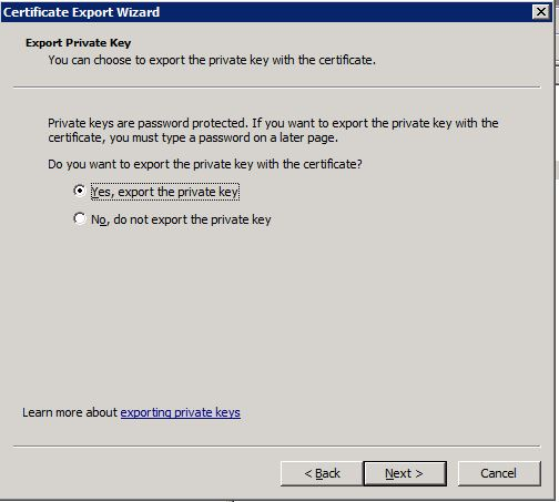 MMC-Export-with-Private-Key