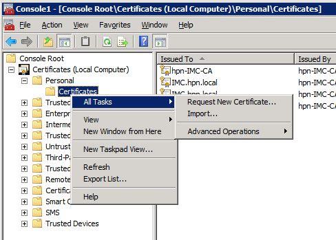 MMC-Request-New-Certificate