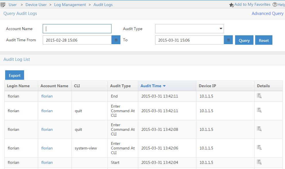 Tacacs-Device-Audit-Logs