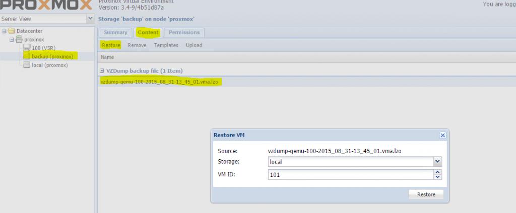 Proxmox-Live-Backup-Restore-on-new-Server
