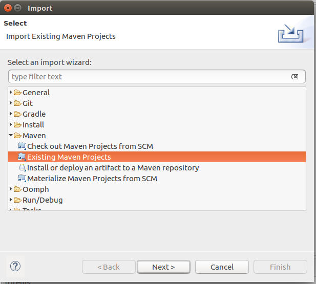 Import-Existing-Maven-Project