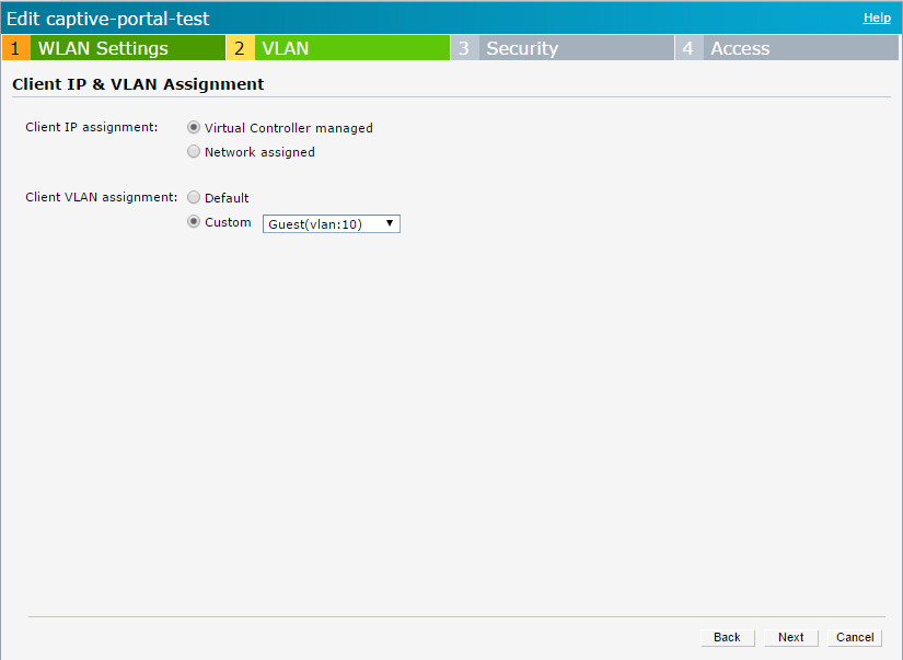 Aruba Instant - External Captive Portal Enhancement - Custom VLAN