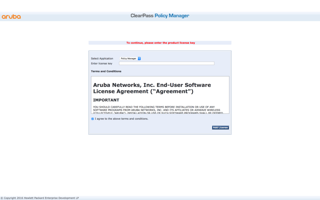 Migrate ClearPass - Install Policy Manager License
