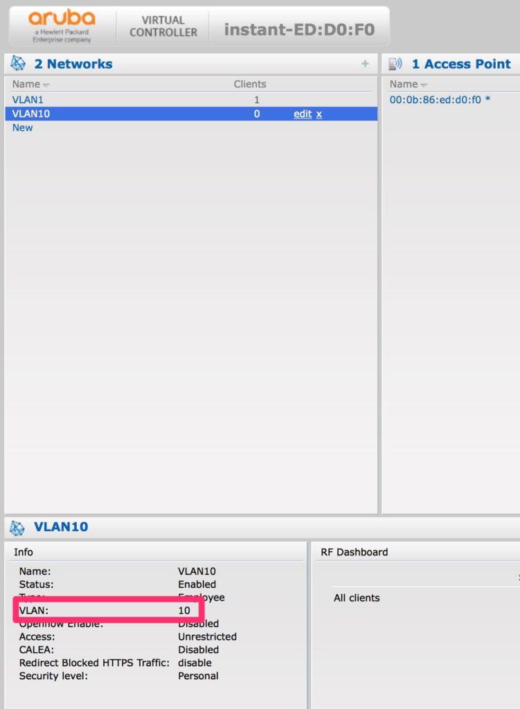 Change the Management VLAN - VLAN 10