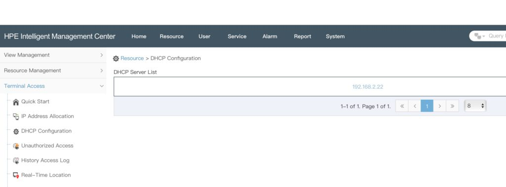 iMC DHCP Agent: DHCP Configuration