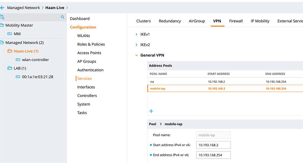 IAP VPN - Create IP Address Pool