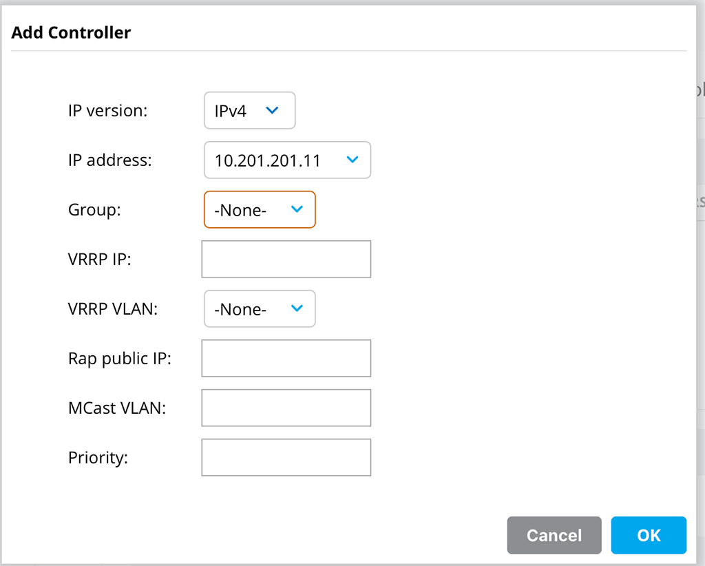 ArubaOS 8 Cluster - Add Controller to Cluster Profile