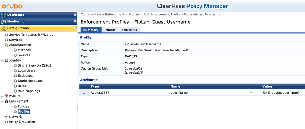 ClearPass Sponsored Guest Login - Guest Username Profile