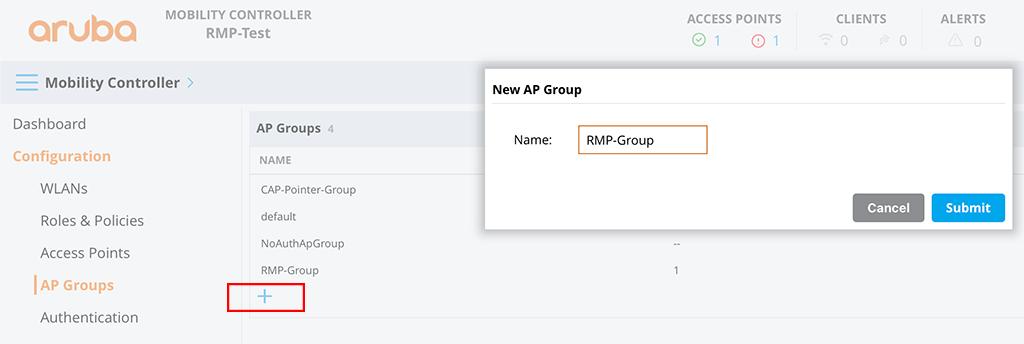 Aruba Remote Mesh - Create AP Groups