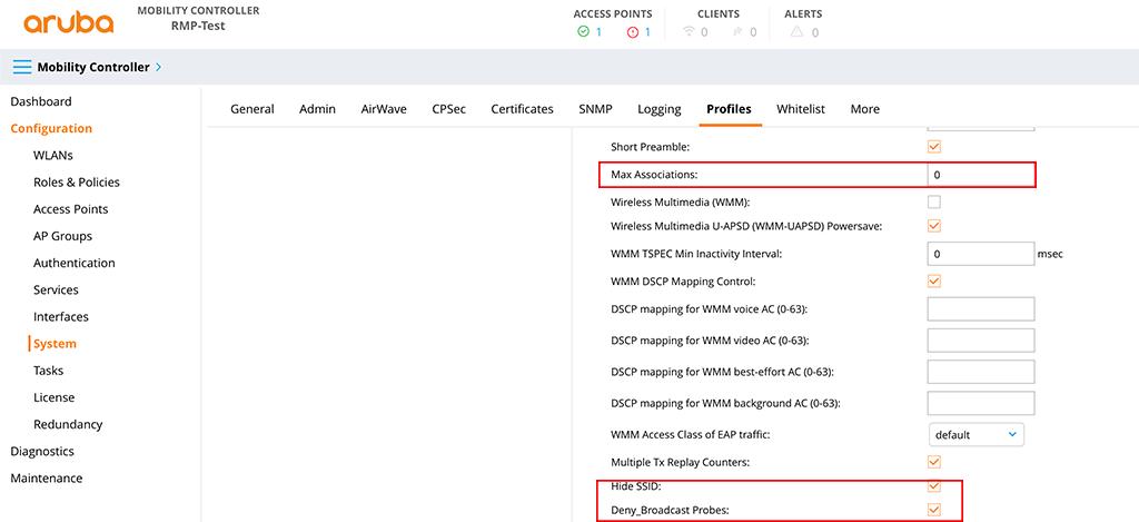 Aruba Remote Mesh - Create a SSID Profile